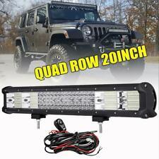 Quad Row 20inch 2016W LED Work Light Bar For Jeep Wrangler JK YJ TJ 1987-2018