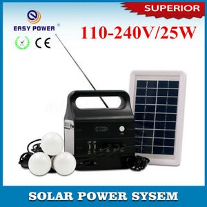 25W Solar Power Bank Panel LED USB Battery Charger Home Camping Outdoor   .☆a