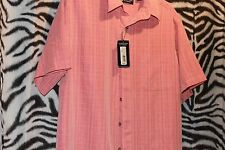 Roundtree and Yorke Casual Travel Smart Short Sleeve Shirt ( Large )