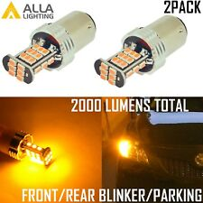 Alla Lighting 30-LED 1157 Turn Signal/Parking Light Bulb Yellow Blinker Lamp,2pc