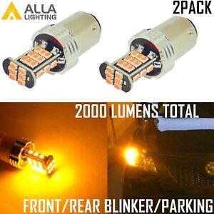Alla Lighting 30-LED 1157 Turn Signal/Parking Light Bulb Yellow Blinker Lamp,2pc