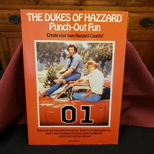1982 The Dukes Of Hazzard Punch-Out Fun Book Paper Model Kit ~ COMPLETE - UNUSED