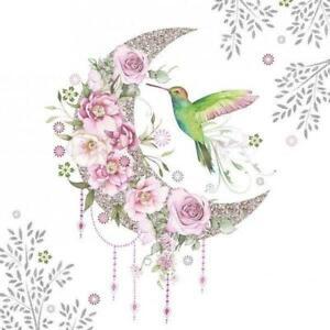 4 individual hummingbird decoupage napkins, scrapbooking, mixed media, craft