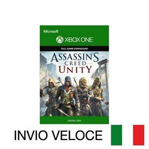 ASSASSIN'S CREED UNITY XBOX ONE GIOCO COMPLETO CODICE DIGITALE ITALIANO