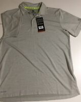 Free Country Men's Size Small Gray Short Sleeve Polo Shirt Micro Tech Polyester