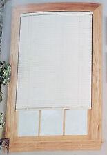 "NEW! HomeTrends 42x64 Window Room Darkening 1"" Vinyl Mini Blinds Off White Cream"
