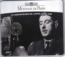 2 euro francia 2010 in blister ufficiale charles de gaulle