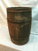 Vintage rustic vintage primitive nail keg barrel farm decor Lg Size 18.in tall