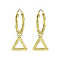 Creolen Dreieck-Anhänger verschiedene Farben aus 925 Silber Damen Echtschmuck