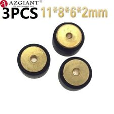 3 un. 11*8*6*2mm radio Rodillo Bronce Hub pellizco Rodillo Polea para Akai Sony