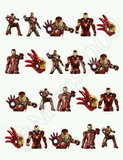 Iron Man Nail art water decals Free shipping Iron Man Nail decals.