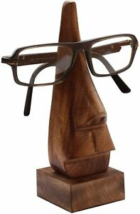 """6"""" Witty Wooden Spectacle Holder Nose Shaped Eyeglass Holder Display Stand"""