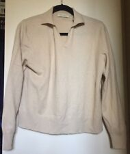 Lord & Taylor Womens 100% Cashmere 2 Ply Sweater Cream Size Large Free Shipping