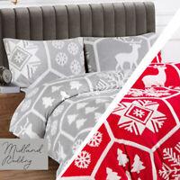 Christmas Duvet Cover Bedding Set & Pillow Cases Quilt Cover Single Double King