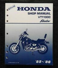 1985 1986 GENUINE HONDA 1100 VT1100C SHADOW MOTORCYCLE SERVICE REPAIR MANUAL NMT