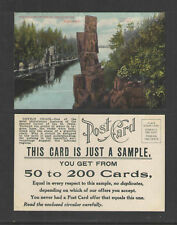 1910s THE DALLES WISCONSIN DEVILS CHAIR SAMPLE POSTCARD ADVERTISING POSTCARD