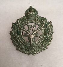 Original Antique Wwi Seaforth Highlanders Canada Cef 17th Batallion Cap Badge