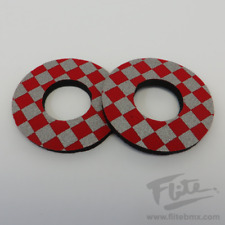 Red /& White Pairs ProBMX Flite Style Old School Dyno BMX Grip Donuts