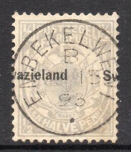 Swaziland 1889 Transvaal ½d ovpt. (shifted left) SG 4 used