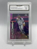 2020 Topps Chrome Pink Refractor Fernando Tatis Jr. ROOKIE CUP GMA 10 GEM MINT
