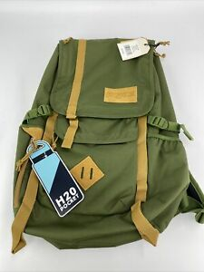 Jansport Hatchet Backpack In New Olive with Tan Highlight NWT