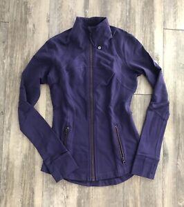 Lululemon Women's Size 4 Athletic Yoga Zip Up Define Jacket Purple