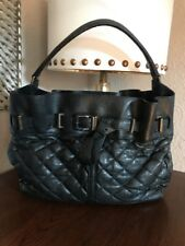 BURERRY BLACK LEATHER LAMBSKING ENMORE QUILTED HOBO LARGE BAG  $1200✅