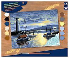 Ksg Port au lever du Soleil Grande peinture par Numéros