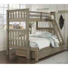 Rosebery Kids Twin over Full Bunk Bed with Trundle in Driftwood