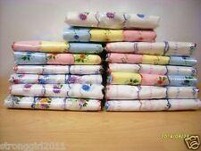 Factory outlet A DOZEN (12 PCS) ms scallop edge printing 100%cotton handkerchief