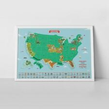 Scratch Map USA Landmarks Luckies Large Travel Scratch Off Wall Map Poster