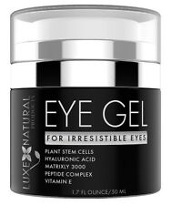Eye Gel for Irresistible Eyes by Luxe Natural products plant stem cells aging