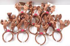 4 X Plush Jingling Xmas Reindeer Antlers Headband Office Party Fancy Dress