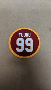 Chase Young Magnet - #99 Jersey Design - Washington Redskins - 4 inch diameter