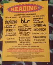 Reading Festival Blur gene Reef 1999 press advert Full page 29 x 37 cm poster