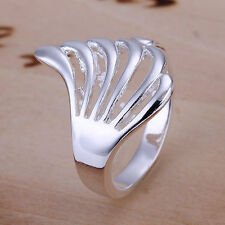 Feather Silver Plated Costume Rings without Stone