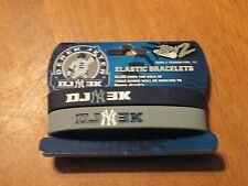 DEREK JETER Turn 2 Elastic BRACELETS DJ 3K (Hits) NY YANKEES 2 Pack BLUE & GRAY