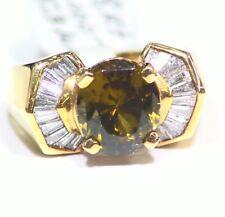 Vintage Victorian 18K Gold Natural Zircon Diamond Anniversary Ring 5.86CT Deco