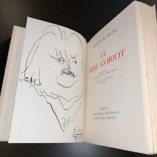 "BALZAC ""LE PERE GORIOT"" Andre Sauret, 1952 (1 B/W Original PICASSO Lithograph)"