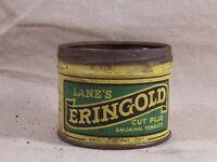 Rare Lane's Eringold Cut Plug Tobacco Tin Vintage Antique