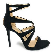 Jessica Simpson Womens Rayomi Strappy Sandal Heels Size 8 Back-Zip Black