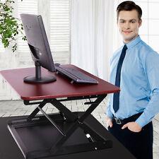 "30"" Ergonomic Height Adjustable Sit Stand Desk Riser Office Computer Top Desk BN"
