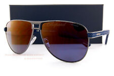 New Chopard Sunglasses SCH B80 584B Gunmetal/Blue Rubber/ Polarized  For Men