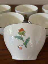 7 Vintage New Benihana Restaurant Dinner Bowl Rare Thistle Red Flower Design