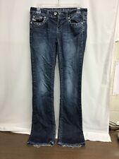 ANTIQUE RIVET Women's Jeans Sz 27  US 4 Low Rise  Crystal Studded Pockets