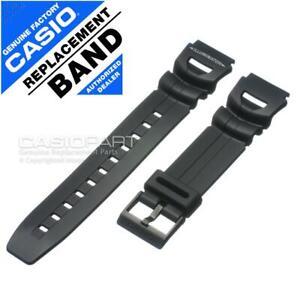 Genuine Casio Watch Band f/ WS-300 WS300-1BV WS300-7BV (5160) Black Rubber Strap