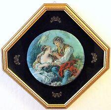Vntg Silk Stevengraph Boucher'S Rococo Courting Scene Framed & Glass