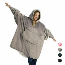 UK Blanket Sweatshirt Huggle Hoodie Ultra Plush Blanket Hoodie Soft Warm