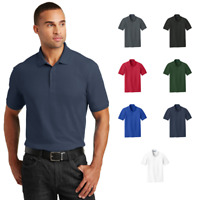 Tall Mens Polo Pique 60/40 Blend Durable Wear Uniform Shirt Side Vented TLK100