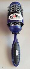 "Scunci Round Hair Brush Curl Volume Vented Barrel 2"" purple ergonomically"